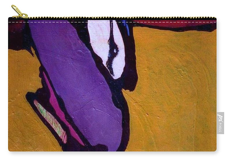 Abstract Carry-all Pouch featuring the painting Cockroach Loosille Ball by Marlene Burns