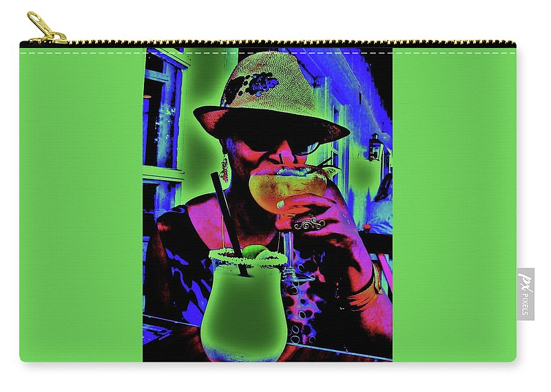 Cocktails Carry-all Pouch featuring the photograph Cocktails Anyone by Diana Dearen
