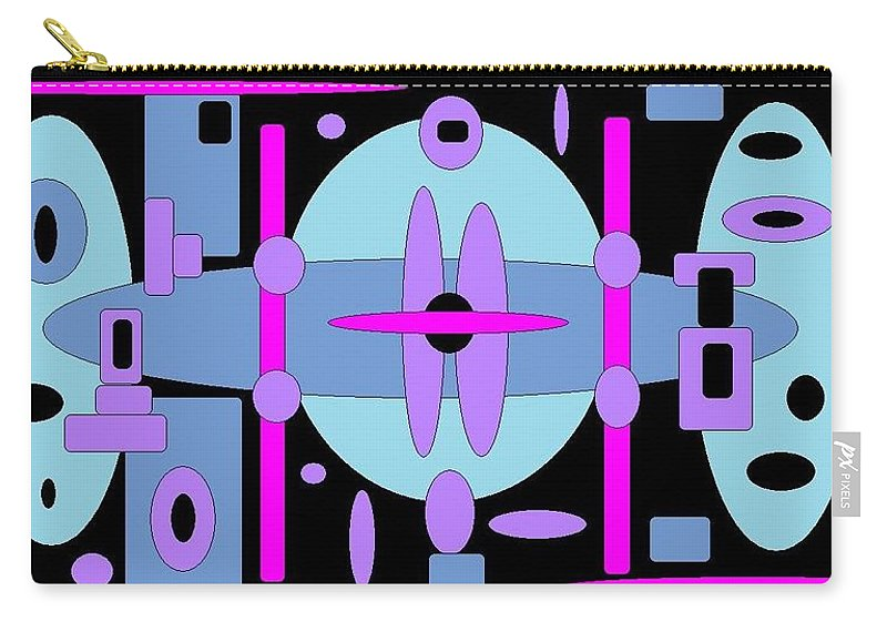 Blackblue Digital Spheres Carry-all Pouch featuring the digital art Cocktails by Jordana Sands