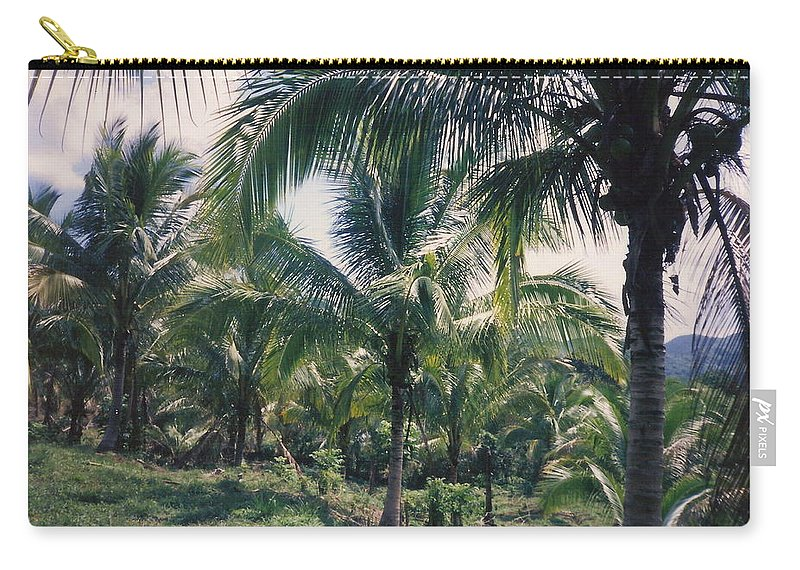 Jamaica Carry-all Pouch featuring the photograph Coconut Farm by Debbie Levene