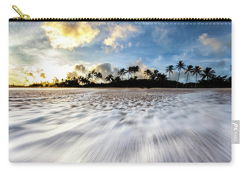 Wave Carry-all Pouch featuring the photograph Coconut Rush by Sean Davey