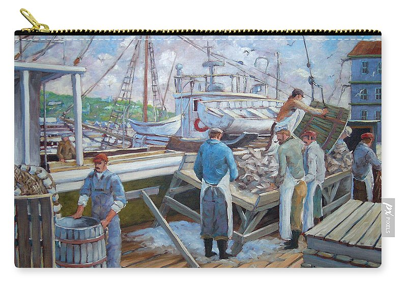 Cod Carry-all Pouch featuring the painting Cod Memories by Richard T Pranke