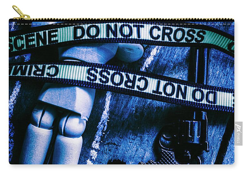 Gun Carry-all Pouch featuring the photograph Code Blue Csi by Jorgo Photography - Wall Art Gallery
