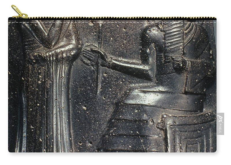 18th Century B.c. Carry-all Pouch featuring the photograph Code Of Hammurabi (detail) by Granger