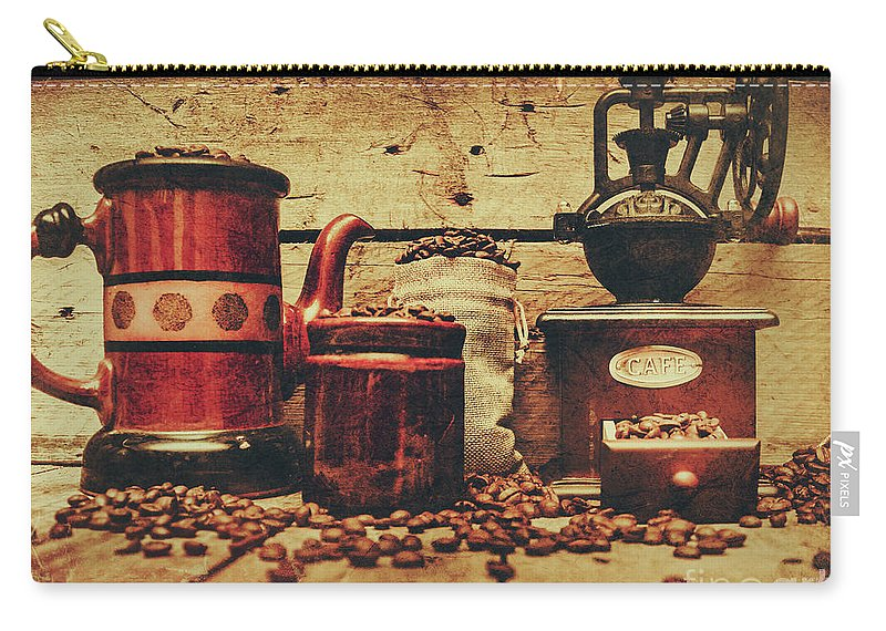 Beverage Carry-all Pouch featuring the photograph Coffee Bean Grinder Beside Old Pot by Jorgo Photography - Wall Art Gallery
