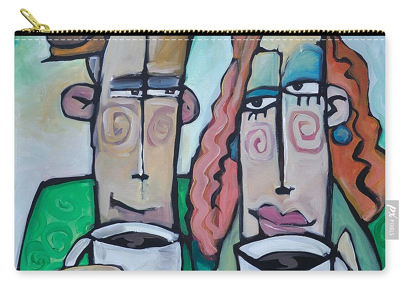 Coffee Carry-all Pouch featuring the painting Coffee Date by Tim Nyberg