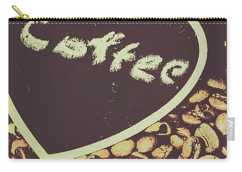 Bean Carry-all Pouch featuring the photograph Coffee Heart by Jorgo Photography - Wall Art Gallery