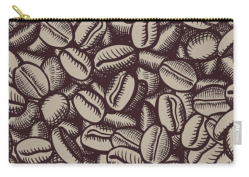 Coffee Carry-all Pouch featuring the digital art Coffee In Grain by Long Shot