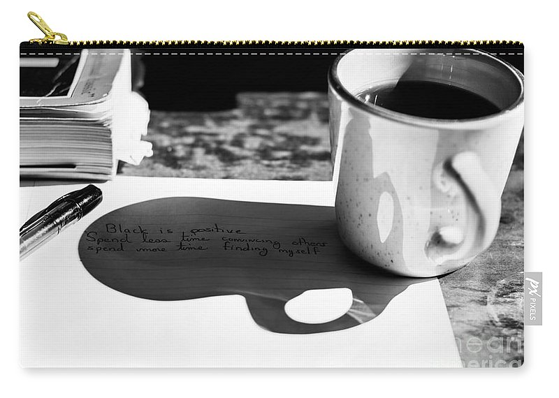 Coffee Carry-all Pouch featuring the photograph Coffee Poetry by James Hennis