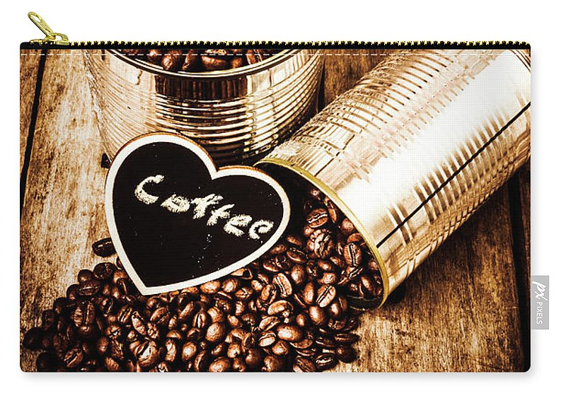 Coffee Shop Carry-all Pouch featuring the photograph Coffee Shop Love by Jorgo Photography - Wall Art Gallery