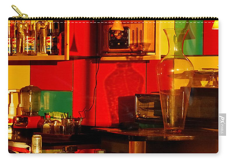 Skip Hunt Carry-all Pouch featuring the photograph Coffee Shop by Skip Hunt