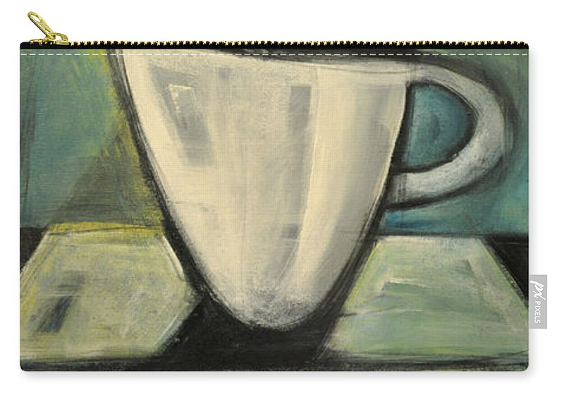 Coffee Carry-all Pouch featuring the painting Coffee. Table. 2 by Tim Nyberg