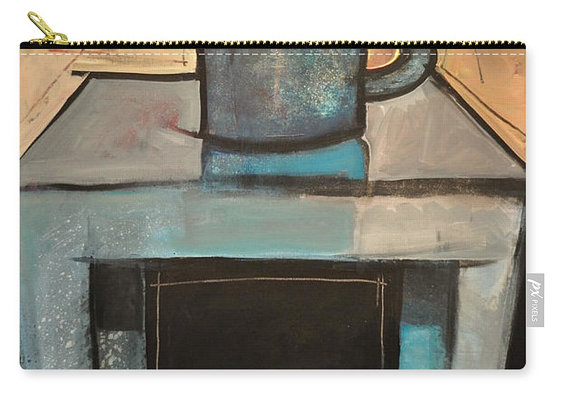 Coffee Carry-all Pouch featuring the painting Coffee Table by Tim Nyberg