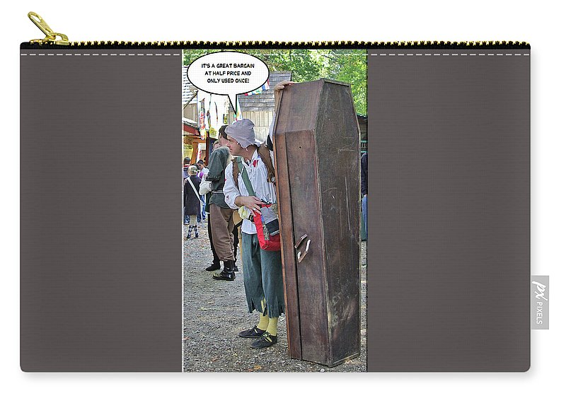 2d Carry-all Pouch featuring the photograph Coffin For Sale by Brian Wallace