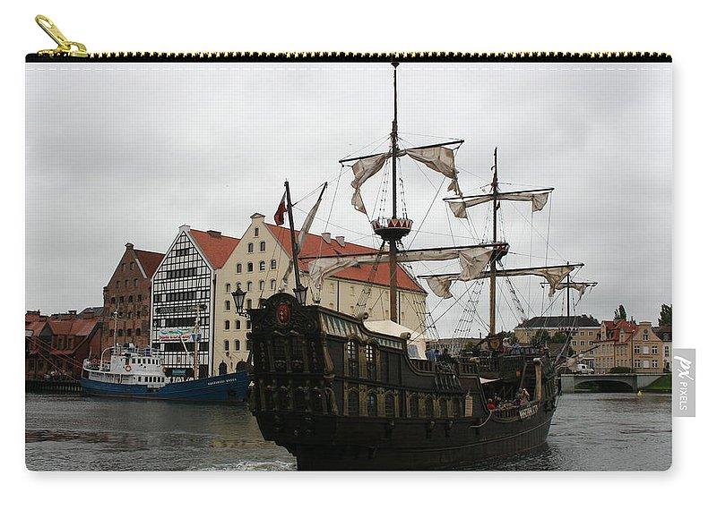Ship Carry-all Pouch featuring the photograph Cog On Wotlawa River by Christiane Schulze Art And Photography