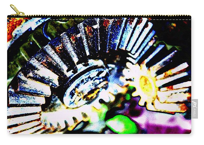 Cogs Carry-all Pouch featuring the digital art Cogs by Tim Allen