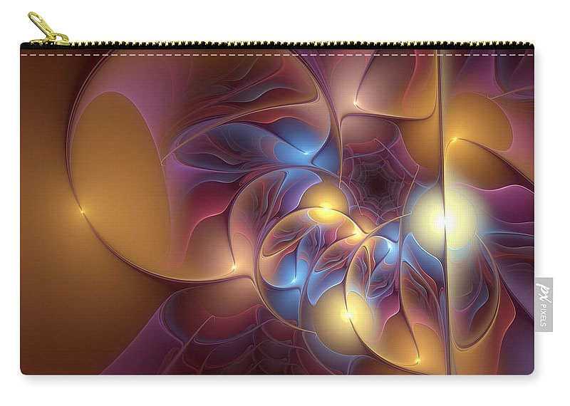 Abstract Carry-all Pouch featuring the digital art Coherence Of Desire by Casey Kotas