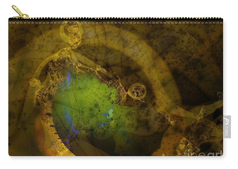 Fractal Image Carry-all Pouch featuring the digital art Coiled by Ron Bissett