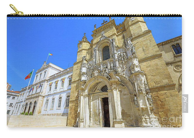 Coimbra Carry-all Pouch featuring the photograph Coimbra Historic City by Benny Marty
