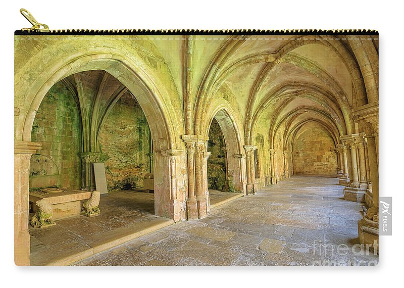 Coimbra Carry-all Pouch featuring the photograph Coimbra Old Cathedral by Benny Marty