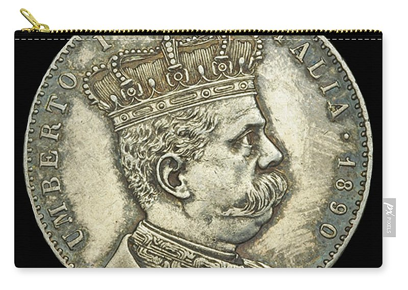 Currency Carry-all Pouch featuring the photograph Coin Italian King by Jost Houk