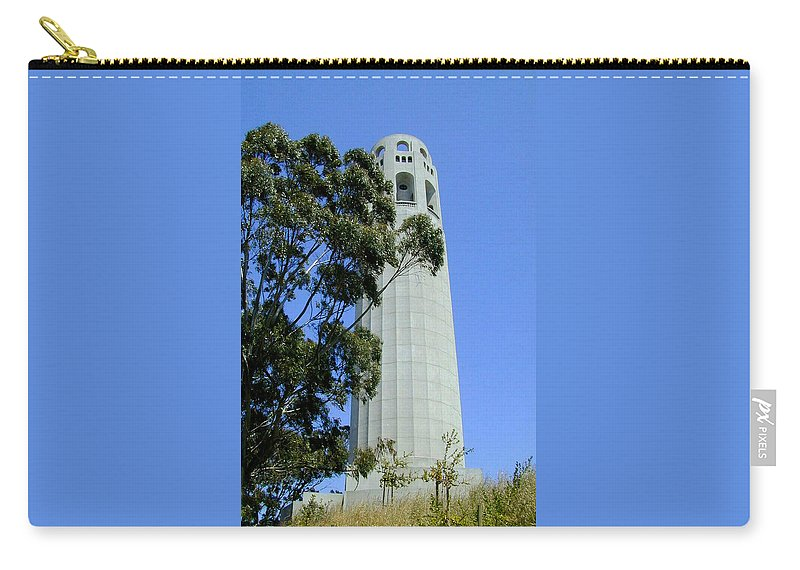 Coit Carry-all Pouch featuring the photograph Coit Tower by Douglas Barnett