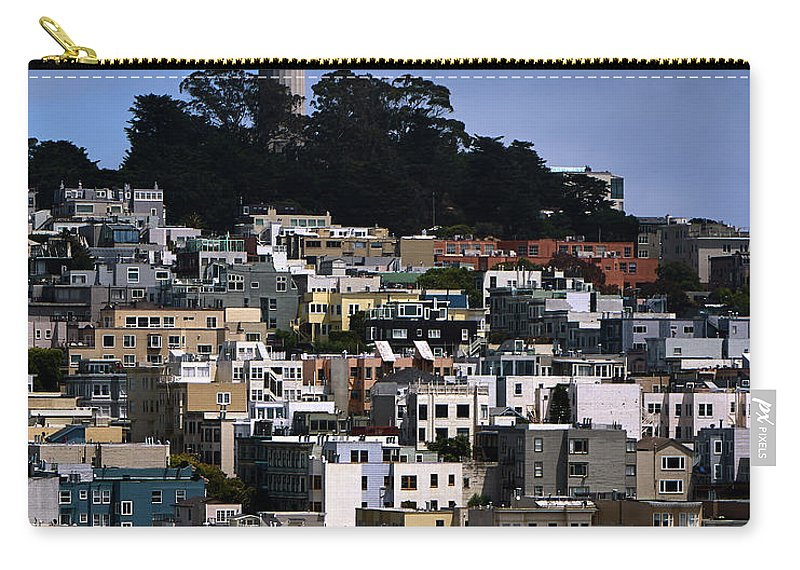 Coit Carry-all Pouch featuring the photograph Coit Tower In San Francisco by Rob Nicholson