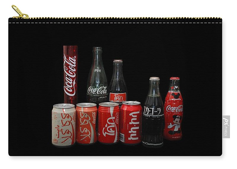 Coca Cola Carry-all Pouch featuring the photograph Coke From Around The World by Rob Hans