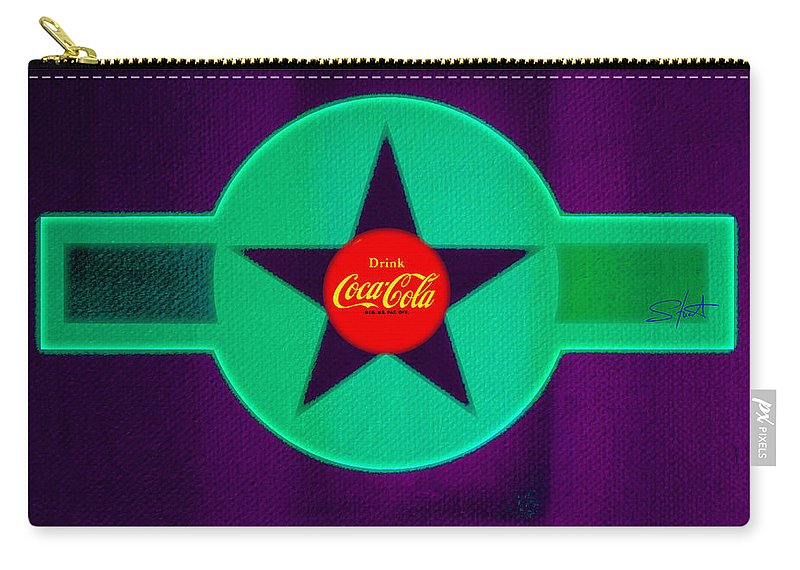 Label Carry-all Pouch featuring the painting Coke N Lime by Charles Stuart