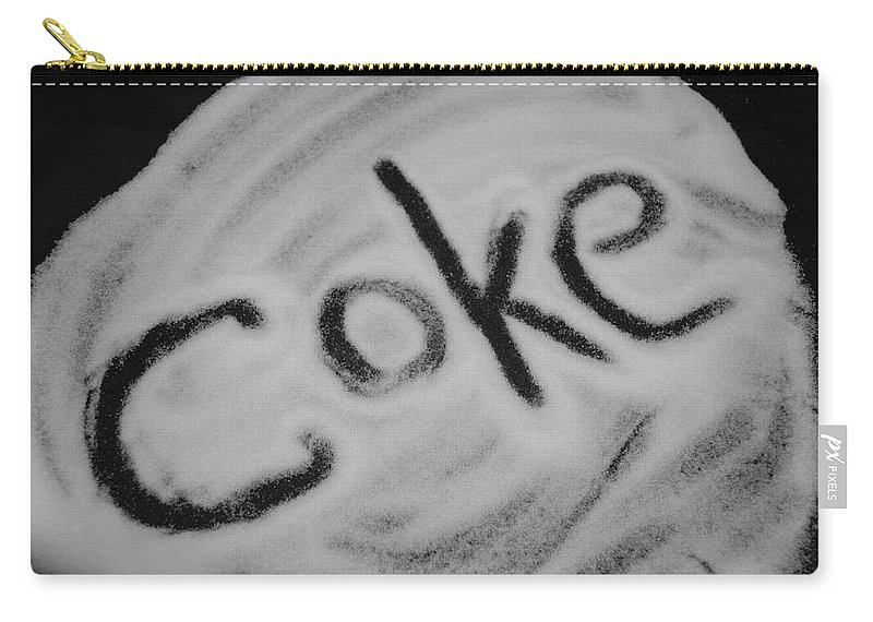 Black And White Carry-all Pouch featuring the photograph Coke by Rob Hans