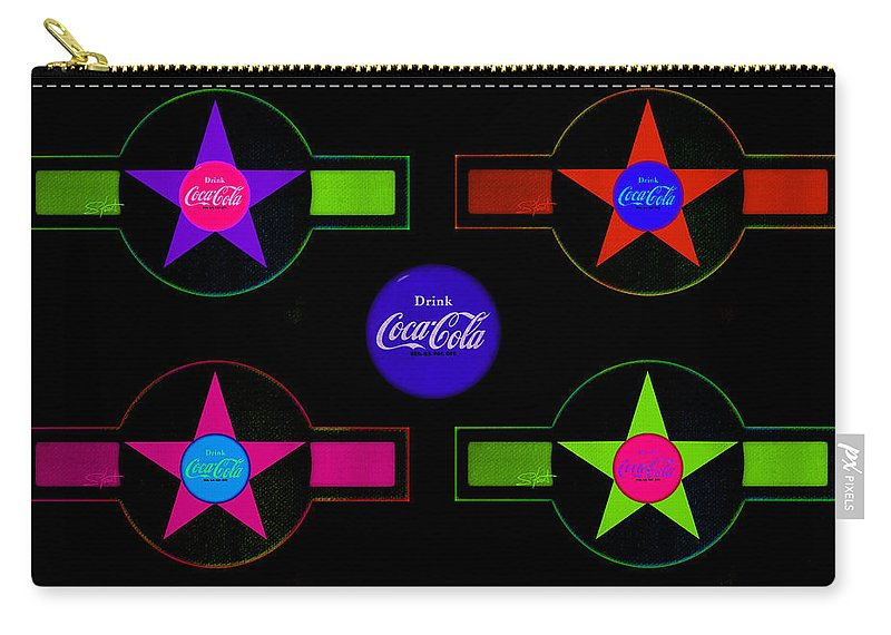 Label Carry-all Pouch featuring the painting Cola-candy by Charles Stuart