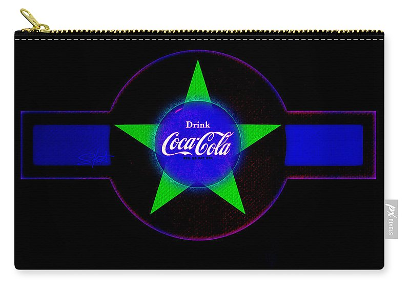 Label Carry-all Pouch featuring the painting Cola N Lime II by Charles Stuart
