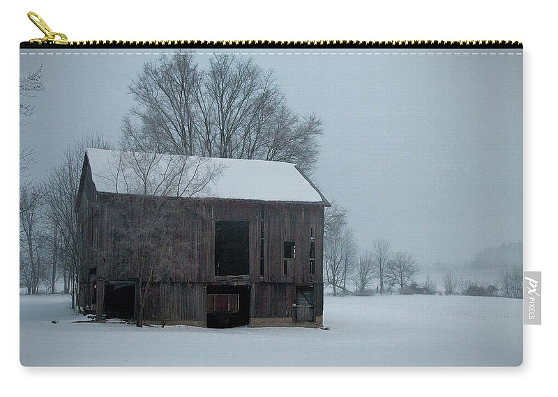 Winter Carry-all Pouch featuring the photograph Cold Barn by David Arment