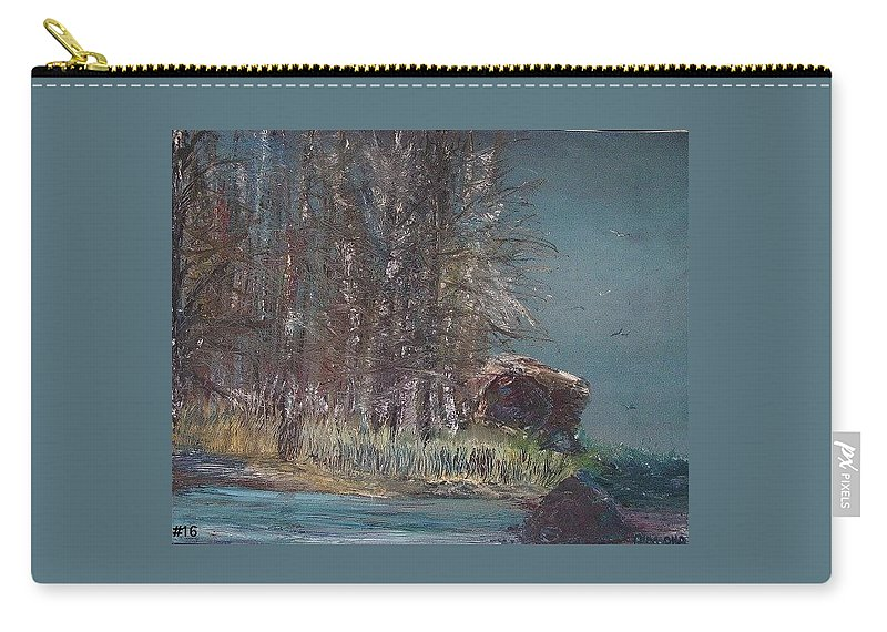 Sky Carry-all Pouch featuring the painting Cold Flight by Jack Diamond