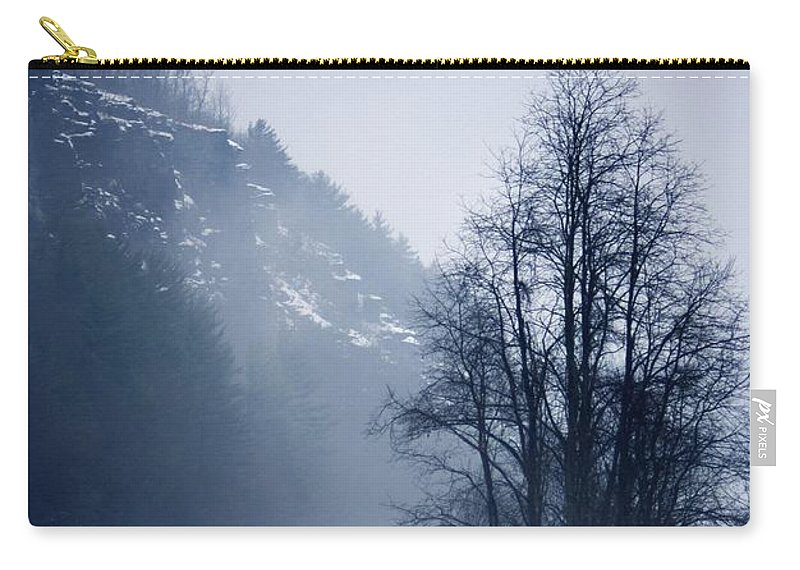 Falls Pennsylvania Carry-all Pouch featuring the photograph Cold Motion... by Arthur Miller