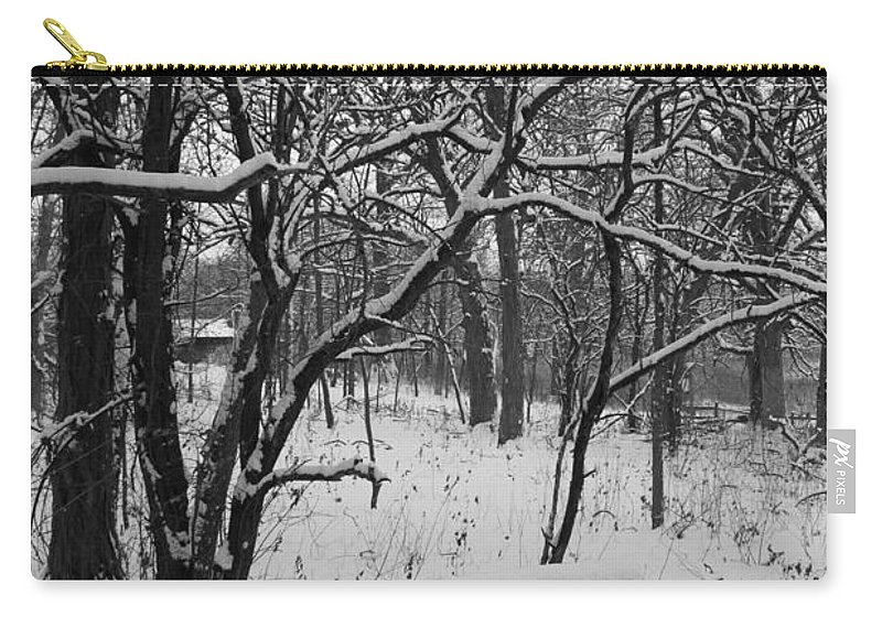 Park Carry-all Pouch featuring the photograph Cold Seat by Lauri Novak