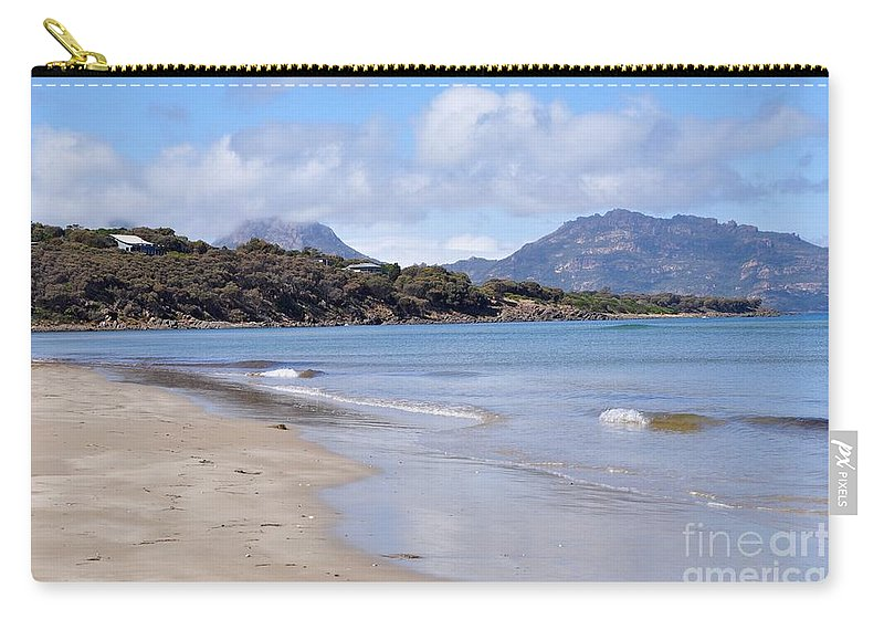 Coals Bay Carry-all Pouch featuring the photograph Coles Bay by Csilla Florida