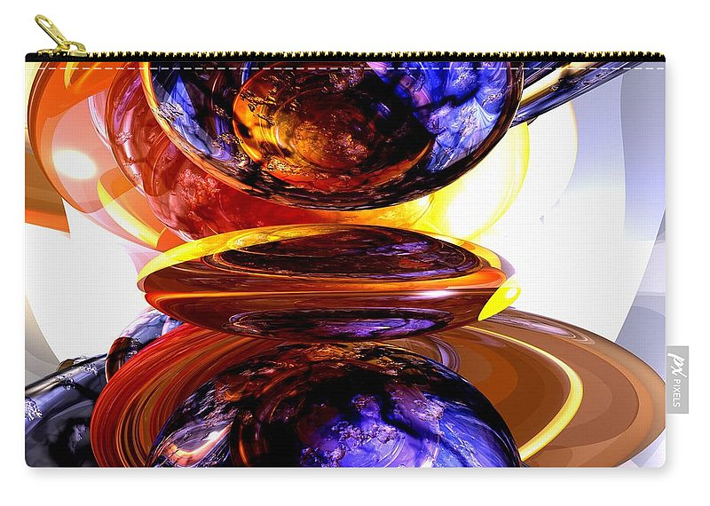 3d Carry-all Pouch featuring the digital art Colliding Forces Abstract by Alexander Butler