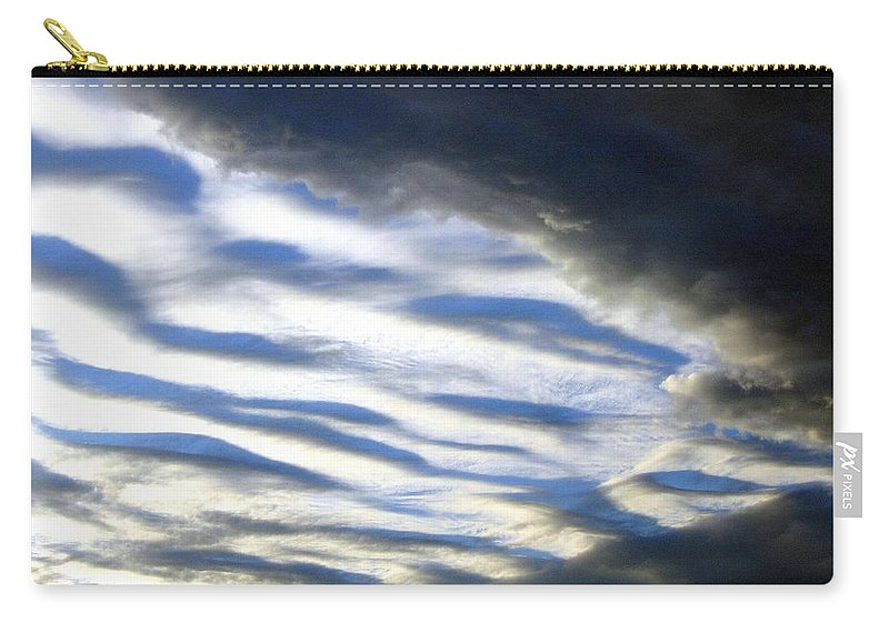 Storm Clouds Carry-all Pouch featuring the photograph Collision by Will Borden