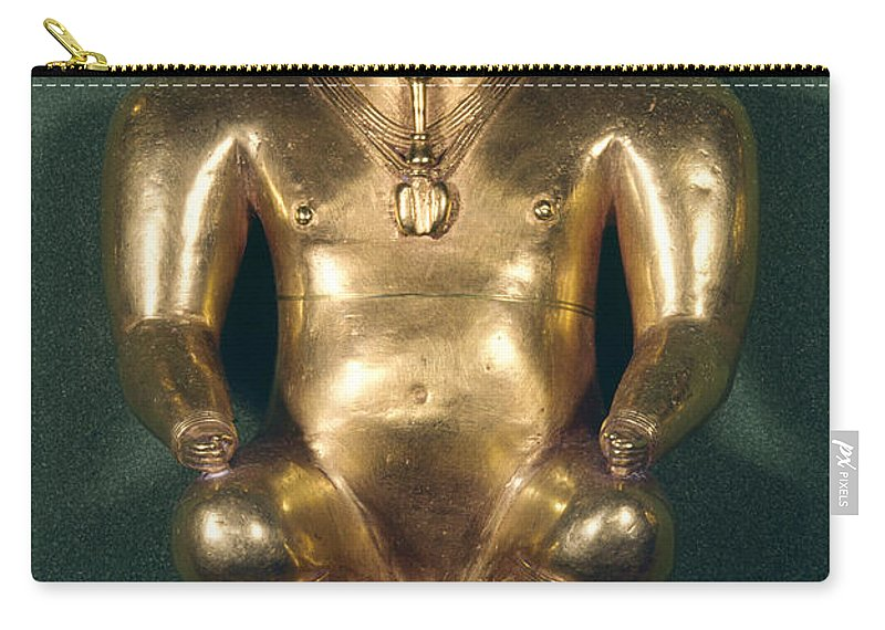 1500 Carry-all Pouch featuring the photograph Colombia: Gold Figure by Granger