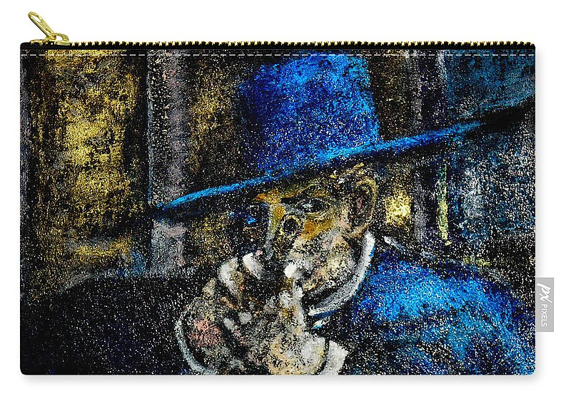 Colonel Mortimer's Shot Carry-all Pouch featuring the painting Colonel Mortimer's Shot by Seth Weaver