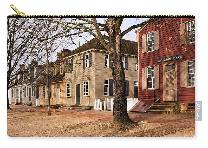 Duke Of Gloucester Street Carry-all Pouch featuring the photograph Colonial Street Scene by Sally Weigand