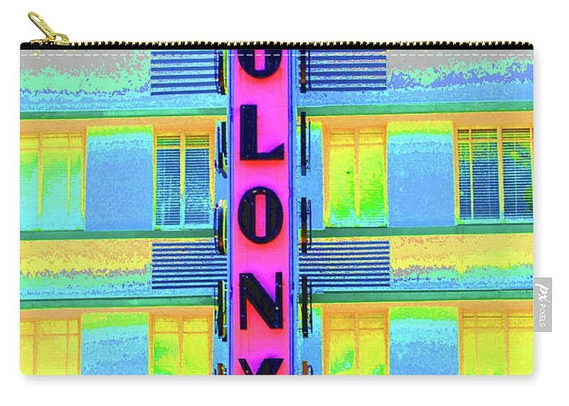South Beach Carry-all Pouch featuring the photograph Colony Hotel by Jost Houk