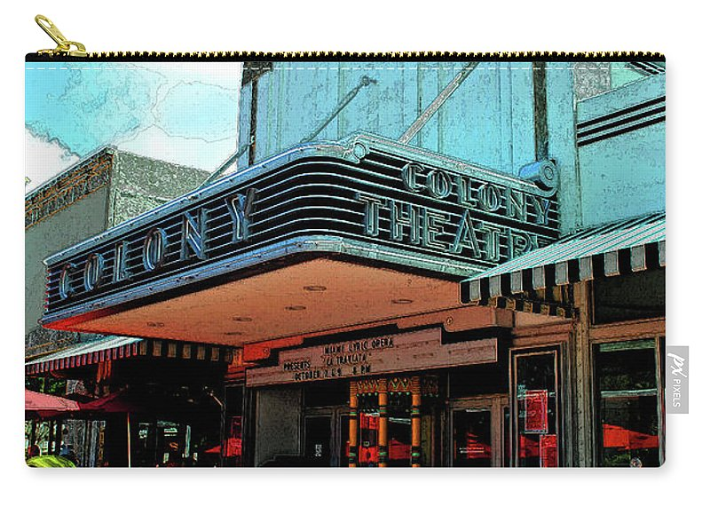 Hotel Carry-all Pouch featuring the photograph Colony Theatre by Jost Houk