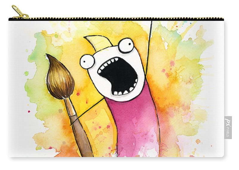 All The Things Carry-all Pouch featuring the painting Color All The Water by Olga Shvartsur