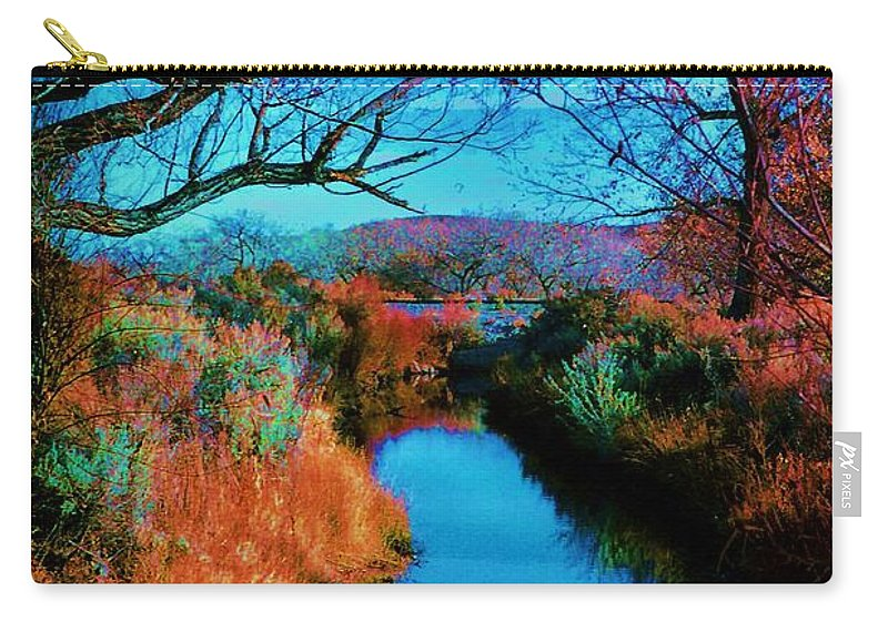 Color Carry-all Pouch featuring the photograph Color Along The River by Diana Dearen