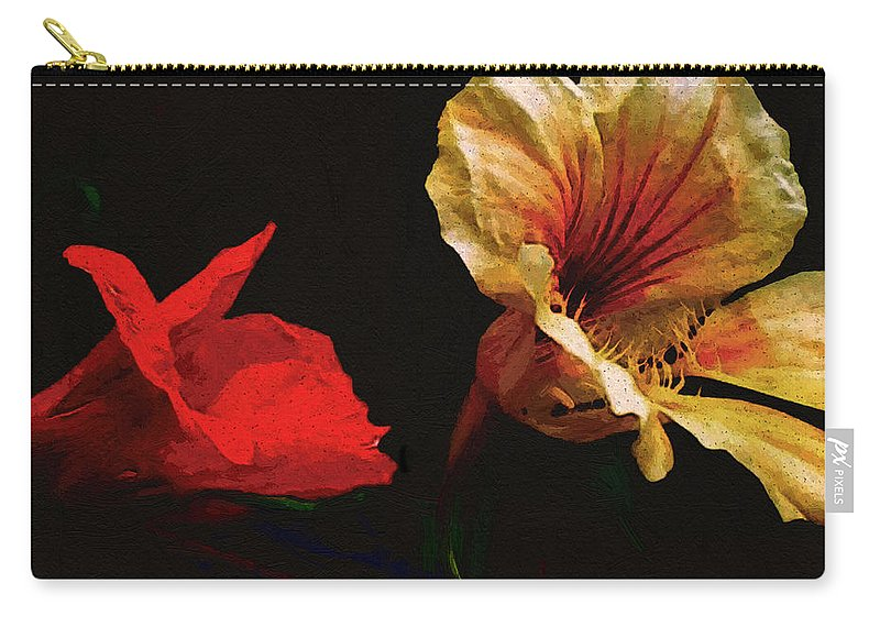 Flowers Carry-all Pouch featuring the painting Color And Light Suspended by RC deWinter