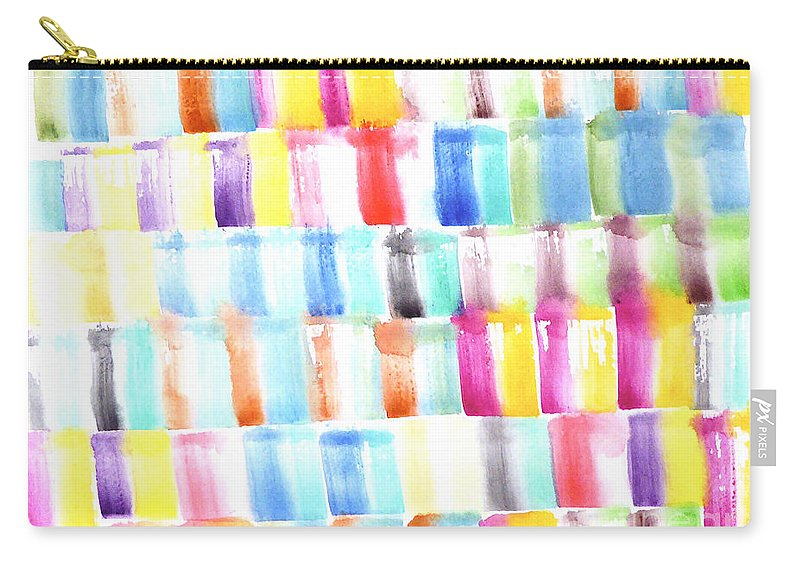 Carry-all Pouch featuring the painting Color Burst 3 by Roberto Concha