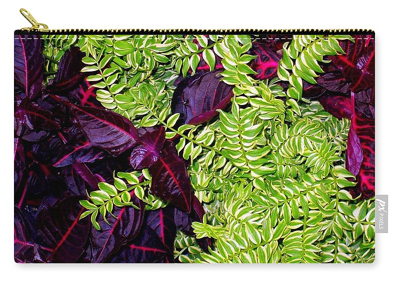 Plants Carry-all Pouch featuring the photograph Color Combo by Deborah Crew-Johnson