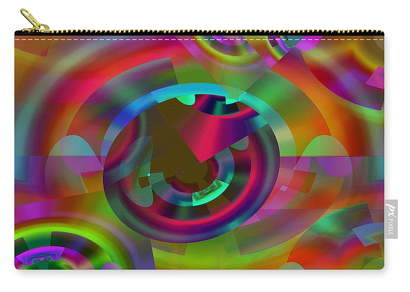 Color Carry-all Pouch featuring the digital art Color Dome by Lynda Lehmann